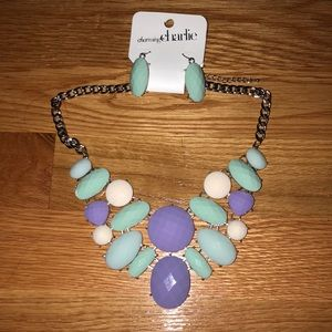 NWT Charming Charlie necklace & earring set